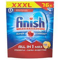 Фото Бытовая химия, Капсулы для посудомоечных машин Капсулы для посудомоечных машин FINISH ALL IN 1 MAX, 76 штук в упаковке.