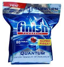 Капсулы для посудомоечных машин FINISH QUANTUM, 80 штук в упаковке.