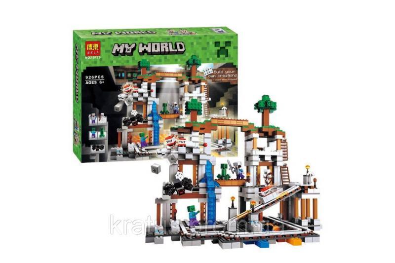 "Конструктор Bela 10179 (Lepin18011) аналог LEGO Minecraft ""Шахта"" 926 детали"