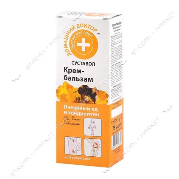 Бальзам - крем для тела Домашний доктор Пчелиный яд и ходроитин 75мл