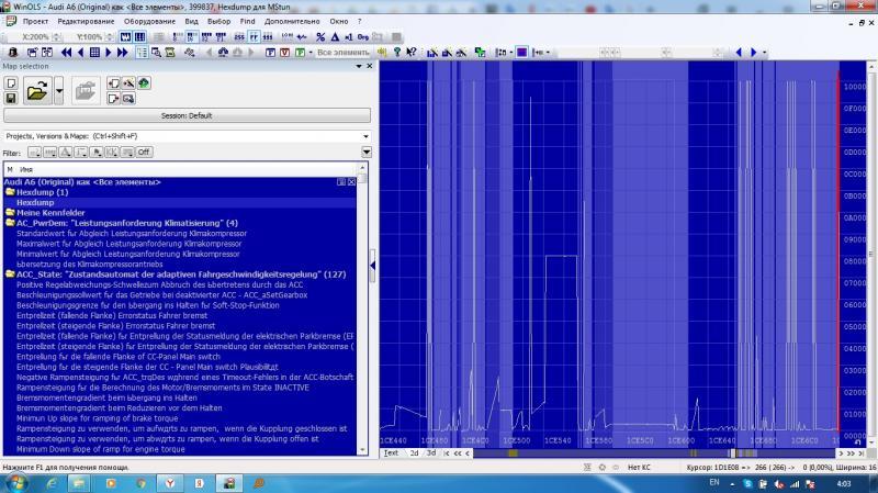 WinOLS MStun VOLKSWAGEN GOLF 5 2.0L 16V TDI 103kW EDC16U34 500164 super mappack.ols