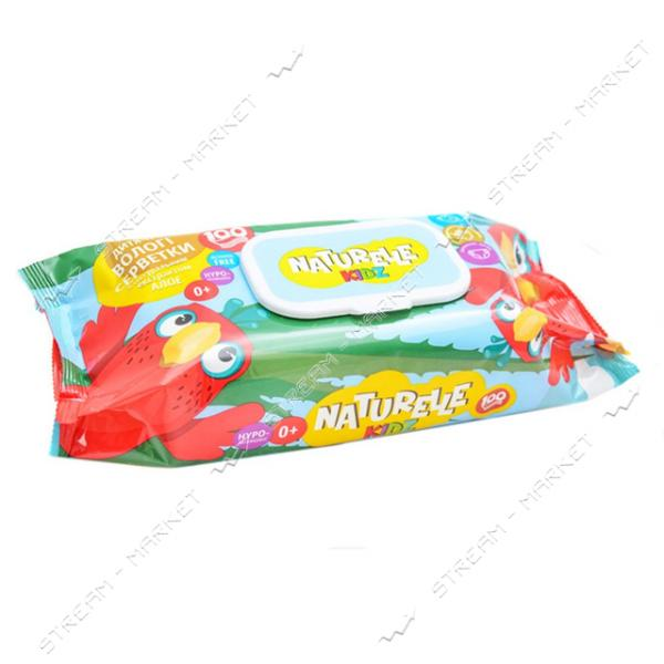 Салфетки влажные детские Naturelle Kidz Алоэ 100шт