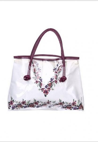 Большая белая пляжная сумка Argento 6007 One Size Белый Argento 6007