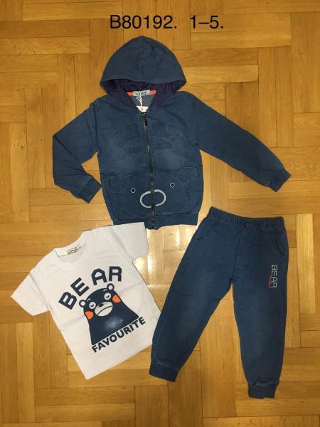 Фирменный джинсовый комплект 3-ка 1-5 лет