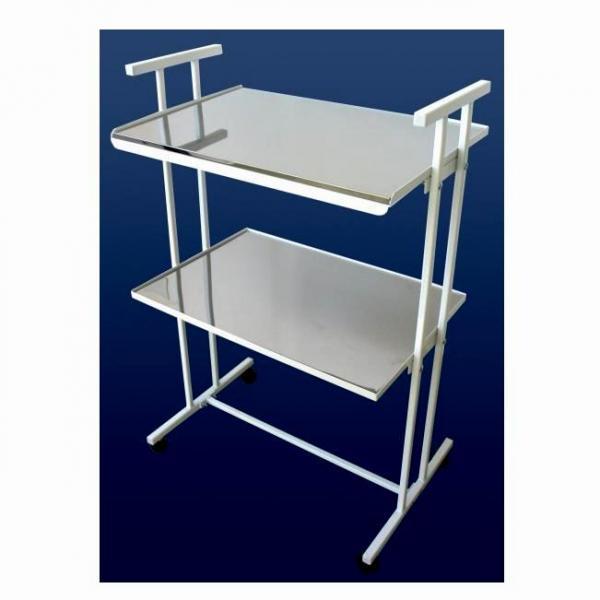Столик инструментальный СИ-1 (стекло-стекло)