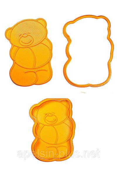 """Вырубка с оттиском для пряников """"Медвежонок Тедди"""" 12 см"""