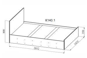 Фото  ДСВ мебель- Кровать 140.1 Ницца
