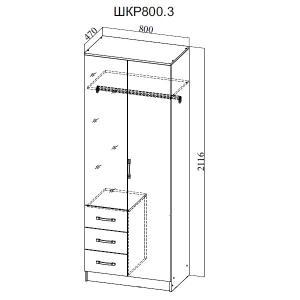 Фото  ДСВ мебель-Шкаф 2-х створчатый ШКР 800.3 Ронда