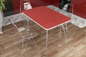 Фото  ДСВ мебель-Стол обеденный (Титан черный, Титан серый, Титан красный), МДФ