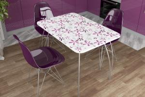 Фото  ДСВ мебель- Стол обеденный (флора)