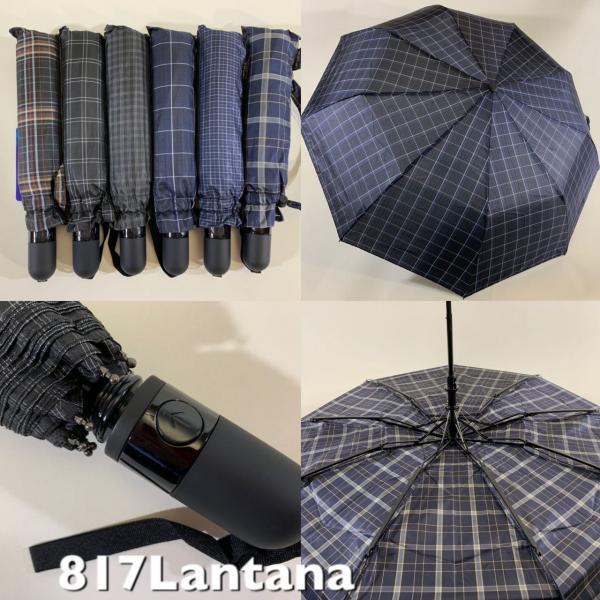 Мужской зонт полуавтомат клетка