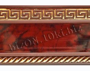Фото Карнизы Пластиковые Потолочные Бленда   Греция «Вишня»,   Декоративная лента для потолочного карниза серии «КСМ», ширина = 7 см