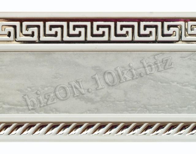 Бленда   Греция «Мрамор с Серебром»,   Декоративная лента для потолочного карниза серии «КСМ», ширина = 7 см