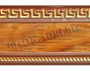 Бленда   Греция «Орех»,   Декоративная лента для потолочного карниза серии «КСМ», ширина = 7 см