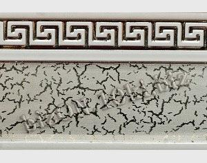 Бленда   Греция «Серебро на Белом»,   Декоративная лента для потолочного карниза серии «КСМ», ширина = 5,5 см
