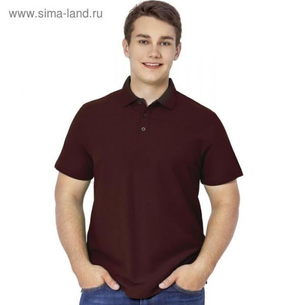 Рубашка-поло мужская StanPremier, размер 50, цвет тёмно-шоколадный 185 г/м