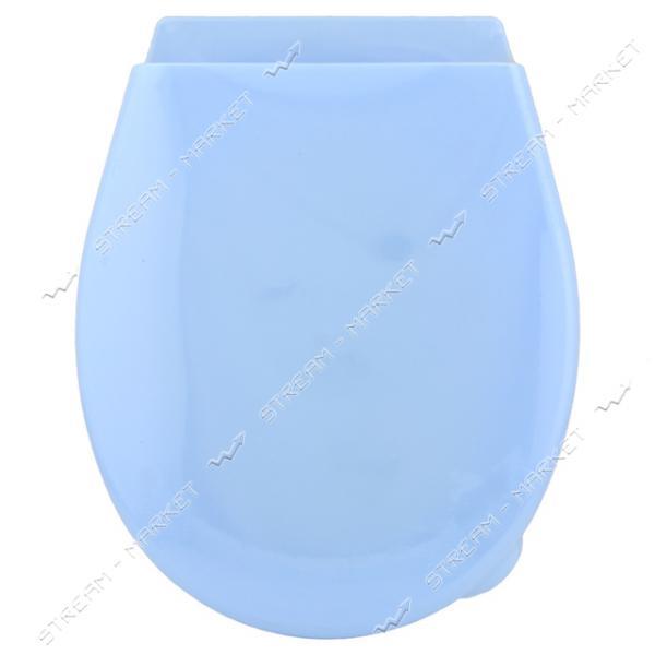 Сидение для унитаза пластиковое с планкой цветное Горизонт