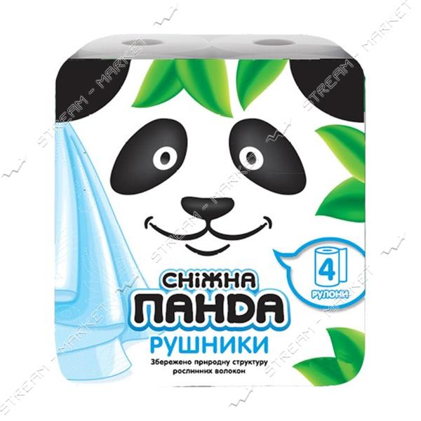 Бумажные полотенца Снежная панда 2 слоя 4 рулона