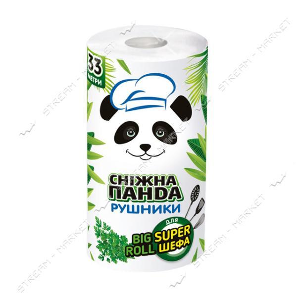 Бумажные полотенца Снежная панда Big Roll 2 слоя 1 рулон