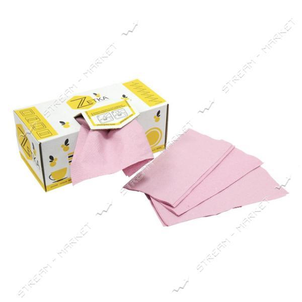 Полотенца бумажные листовые розовые МП Zetka 180