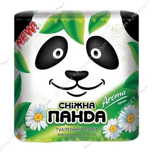 Туалетная бумага Снежная панда Aroma 2 слоя 4 рулона
