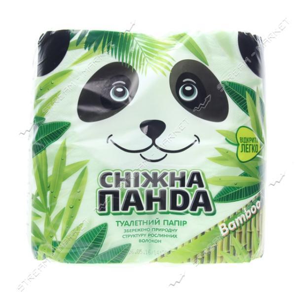 Туалетная бумага Снежная панда Bamboo 2 слоя 4 рулона