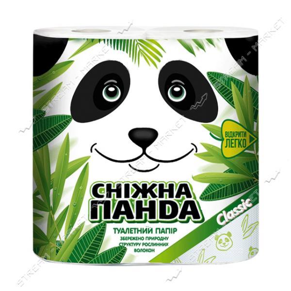 Туалетная бумага Снежная панда Classic 2 слоя 4 рулона