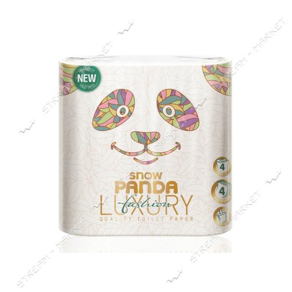 Туалетная бумага Снежная панда Luxury Fashion 4 слоя 4 рулона
