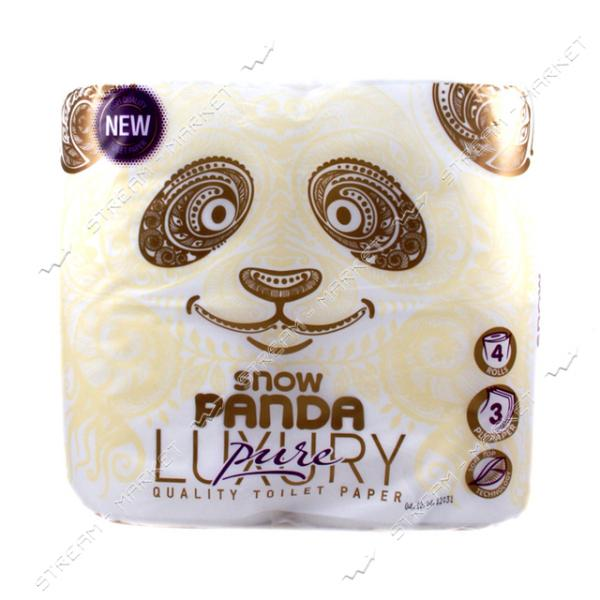 Туалетная бумага Luxury Pure 4 слоя 4 рулона