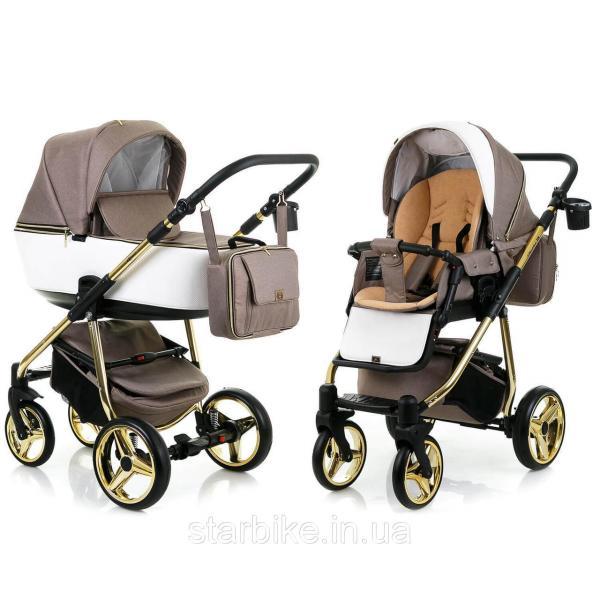 Детская универсальная коляска 2 в 1 Adamex Reggio Limited Chrom (Адамекс реджио) Y801