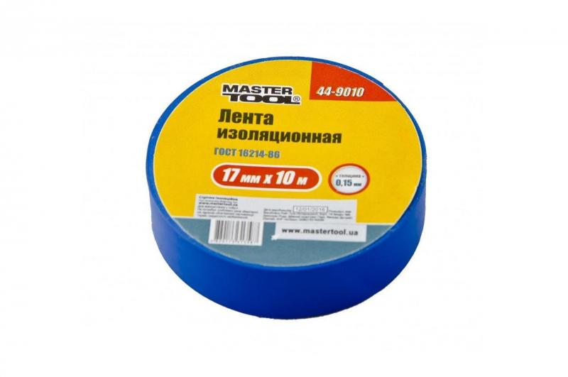 Изолента Mastertool - 10 м, синяя