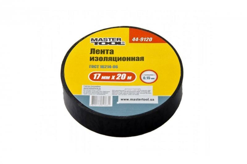 Изолента Mastertool - 10 м, черная