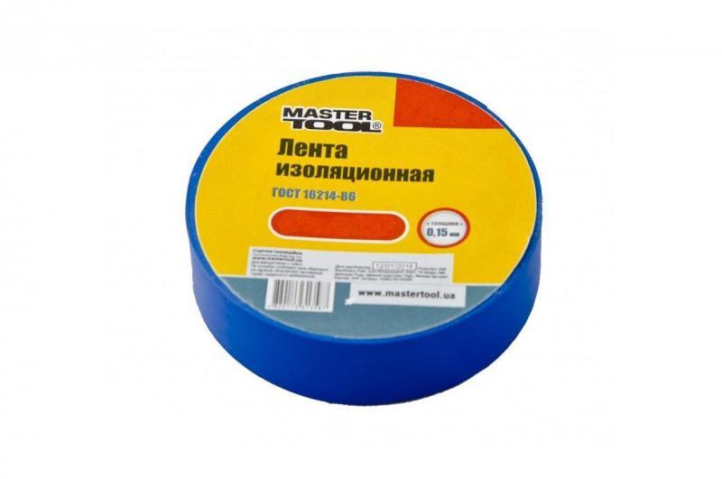 Изолента Mastertool - 20 м, синяя
