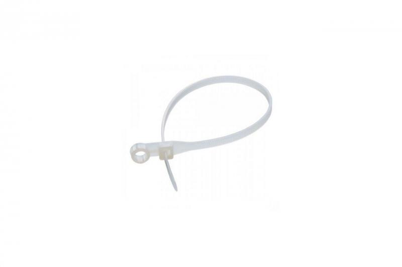 Хомут пластиковый с кольцом Apro - 3,6 x 150 мм, белый (100 шт.)