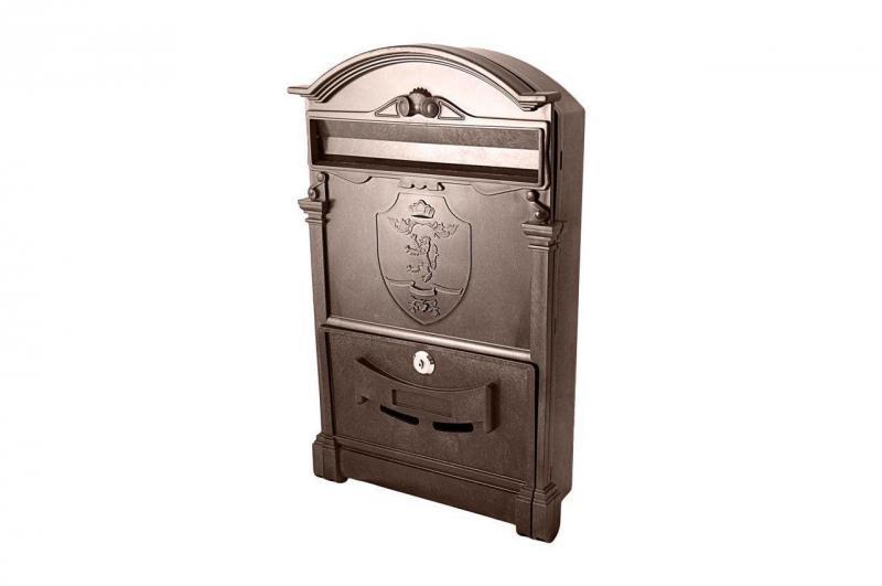 Почтовый ящик Vita - герб льва (коричневый)