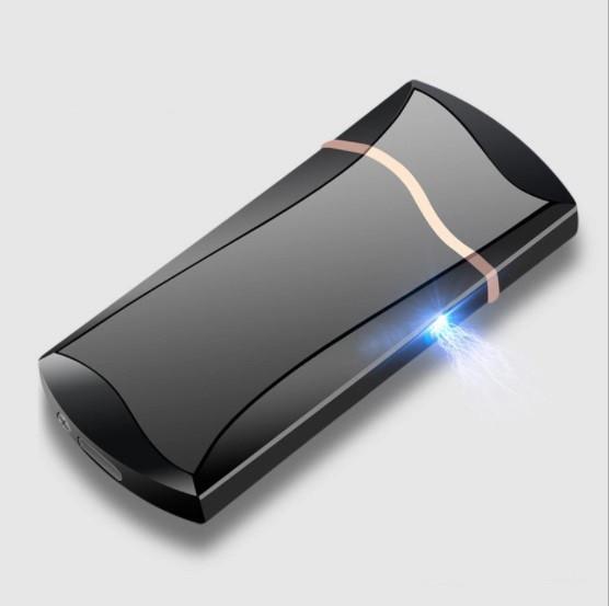 Электроимпульсная зажигалка SUNROZ F7 портативная электронная аккумуляторная USB зажигалка Черный (SUN0673)