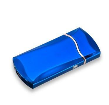 Электроимпульсная зажигалка SUNROZ F7 портативная электронная аккумуляторная USB зажигалка Синий (SUN0674)