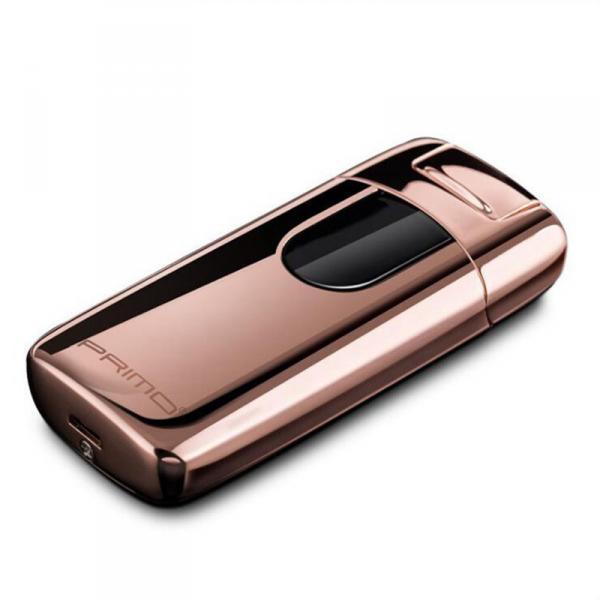 Электроимпульсная зажигалка PRIMO портативная электронная аккумуляторная USB зажигалка Золотистый (SUN0681)