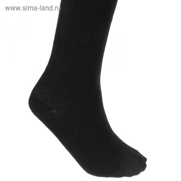 Колготки детские Д130, цвет черный, рост 122-128 см