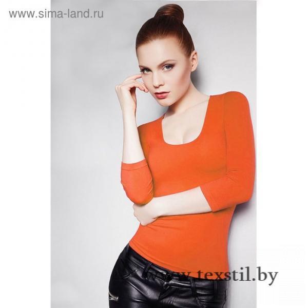 Фото Одежда и обувь, Женская одежда, Джемперы, толстовки Джемпер женский бесшовный ARTG MAGLIA SCOLLO MADONNA MANICA 3/4 (orange, S/M)