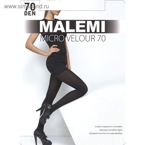 Колготки женские MALEMI Micro Velour 70 den, цвет загар (daino), размер 2