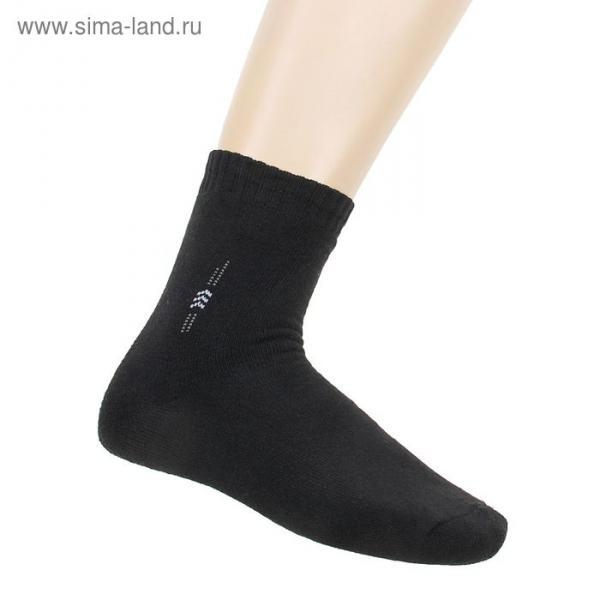 Носки мужские махровые EL-20, цвет черный, размер 29