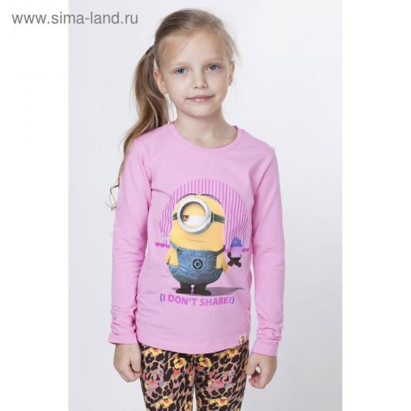 """Джемпер для девочки """"Миньоны"""", рост 152 см (80), цвет розовый ZG 03408"""
