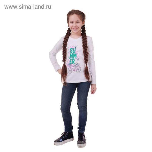 Джемпер для девочки, рост 146 см (72), цвет белый_160089