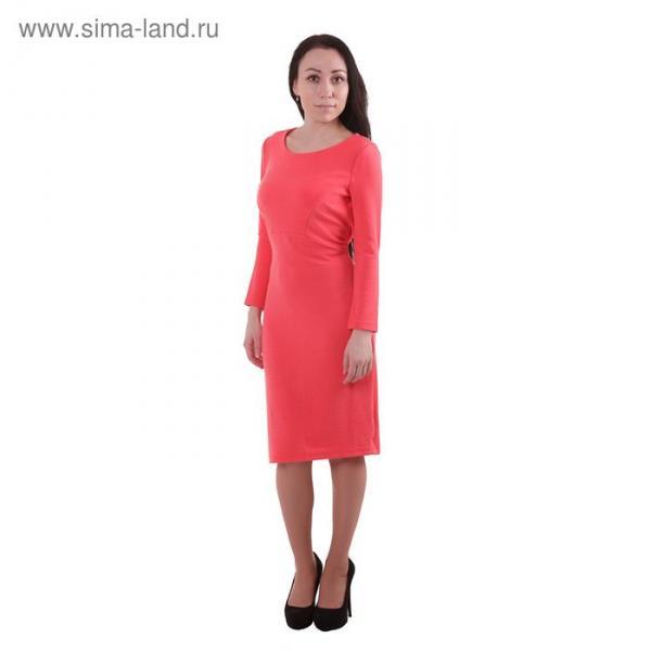 Платье женское, размер 50 (XL), рост 170 см, цвет коралл (арт. 40200200072 С+)