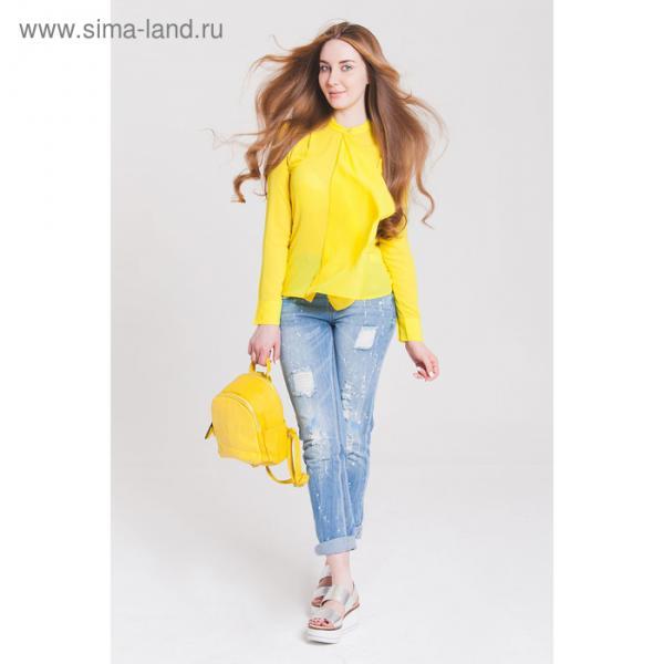 Блузка женская 40200260049 цвет жёлтый, р-р 46 (M), рост 170 см