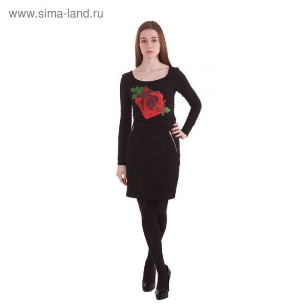 Блузка-боди женская 10200100010, размер 46 (M), рост 170 см, цвет черный