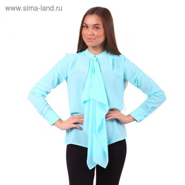 Блузка женская 40200260049 цвет св.зелёный, р-р 48 (L), рост 170 см