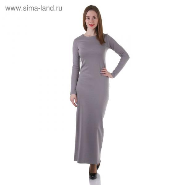 Платье женское, размер 48, рост 168 см, цвет светло-серый (арт. 1556)