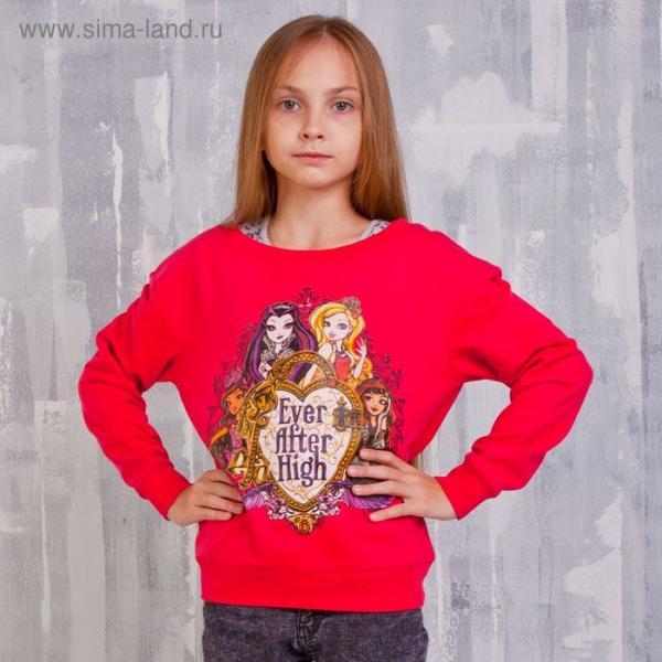 Комплект для девочки (толстовка, майка), рост 134 см (72), цвет фуксия/серый (арт. ZG 17008-MF2_Д)